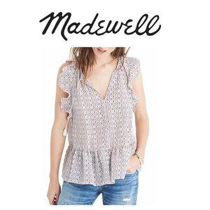 Madewell Ruffle Silk Blouse